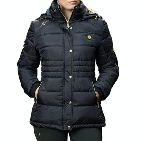 Covalliero Quilted Jacket for Ladies – Anthracite