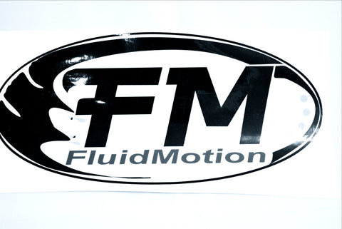 Adhesive FM Ski Decal (NEW!) - Fluid Motion Sports - Sproat Lake