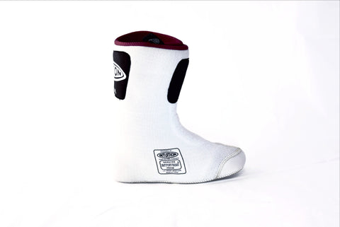 Intuition Boot Liner : Godiva (White with Burgundy Interior) - Fluid Motion Sports - Sproat Lake