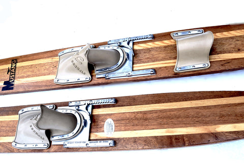 RARE! Vintage Cypress Gardens Mustang Combo Skis - Fully Refurbished with Original binders - Fluid Motion Sports - Sproat Lake