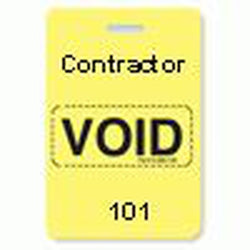 Reusable VOIDbadge Yellow 101-200