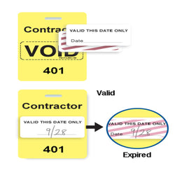 Reusable VOIDbadge Yellow 401-500