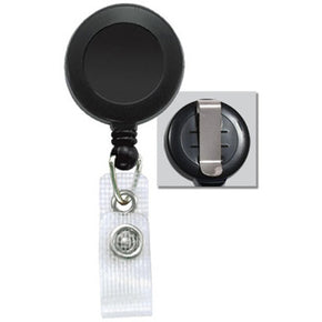 Badge Reel with Reinforced Vinyl Strap & Belt Clip