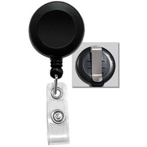 Badge Reel with Clear Vinyl Strap & Belt Clip