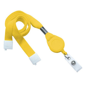 "Flat Tubular 5/8"" Lanyard with Breakaway, Slotted Reel and Clear Vinyl Strap"