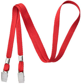"Open Ended 3/8"" Lanyard with two Bulldog Clips"