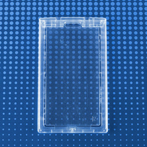 "Rigid Plastic Vertical Locking Card Case, 2.13"" x 3.38"""