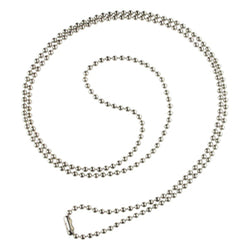 Nickel-Plated Steel Beaded Neck Chain, Length 30