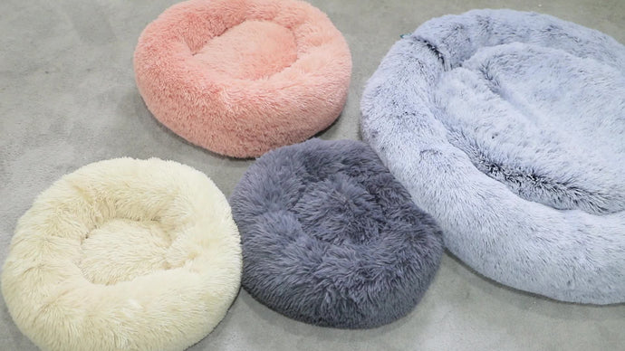 Wholesale Custom Luxury Warm Soft Plush Comfortable Pet Dog Bed for Sleeping Winter Pet Supplies