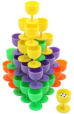 Balance Puzzle Glass Board Table Game Stacking Balancing Blocks Intelligence Multiplayer Toy For Family Kids Birthday Gift 36 Pieces