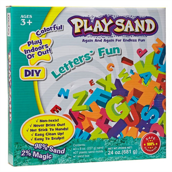 Play Sand - Alphabet Letters Fun for kids Play Indoor or Outdoor