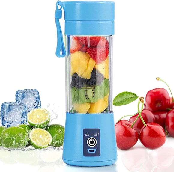 Mini Portable Blender,Personal Blender Small Fruit Mixer Electric USB Rechargeable Juicer Cup Fruit Mixing Machine Home Travel 380ml