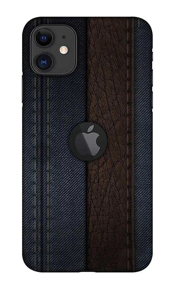 Jeans texture design printed hard back case Logocut Mobile cover for Apple iphone 11