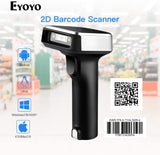1D 2D QR Wireless Barcode Scanner, 3-in-1 BT & 2.4G & USB Wired Portable Handheld Barcode Reader for PDF417 Data Matrix UPC Compatible Laptops/PC/Android/iPhone iOS