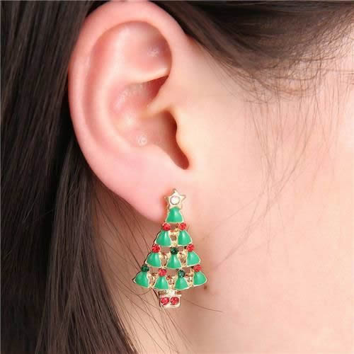 CHRISTMAS TREE EARRINGS CHRISTMAS EARRING JEWELRY