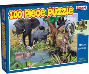 EDUCATIONAL AFRICAN ANIMALS 100 PC PUZZLE