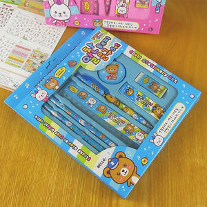 STATIONARY SET PENCIL , SHARPENER ,ERASER COMO SET KIDS GIFTS
