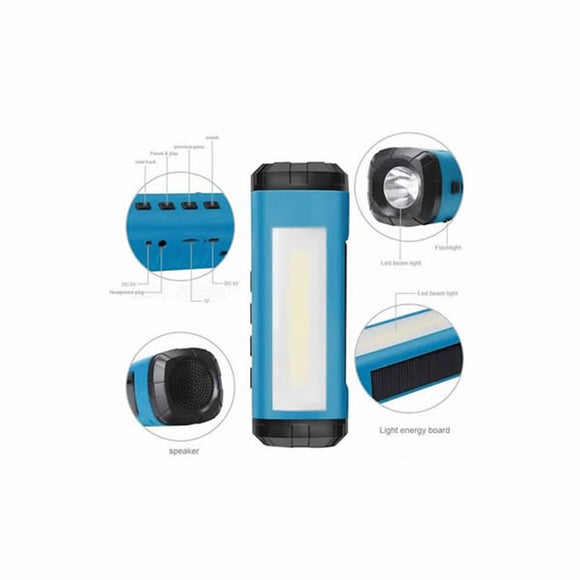Solar bluetooth speaker 4 in 1 Multipurpose Flashlight / Torch / Speaker
