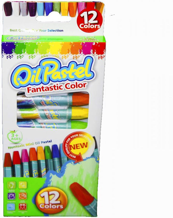 12PCS OIL PASTEL COLOUR PACK