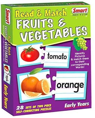 SMART READ AND MATCH FRUITS AND VEGETABLES EDUCATIONAL CARD GAME
