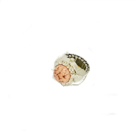 Womens Ring Watch Pink Stone