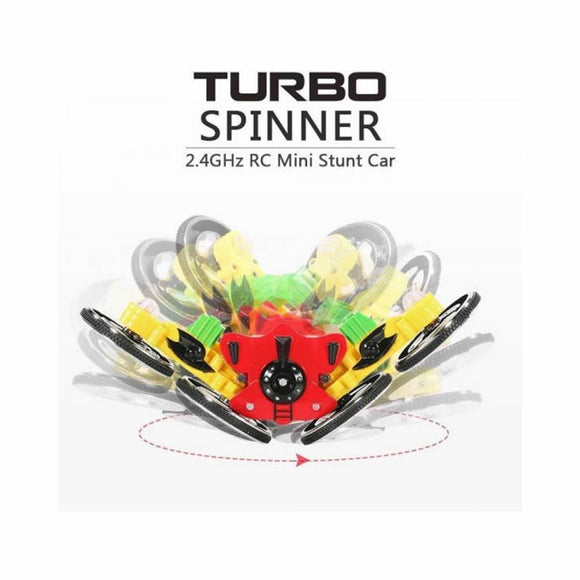 Turbo Spinner Mini Stunt Car flip over and flash lights with Remote control