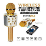 WIRELESS MIKE HANDHELD KARAOKE MICROPHONE BLUETOOTH