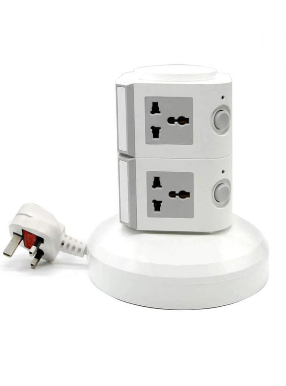 2 LAYERS MULTI PLUG WITH USB PORT
