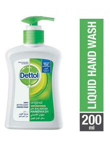 DETTOL ORIGINAL ANTI-BACTERIAL LIQUID HAND WASH 200ML - PINE