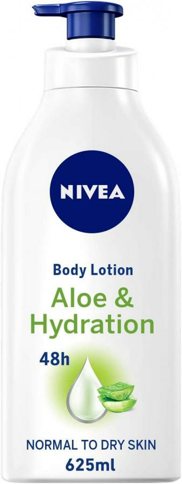 NIVEA BODY LOTION, ALOE & HYDRATION, NORMAL TO DRY SKIN, 625ML