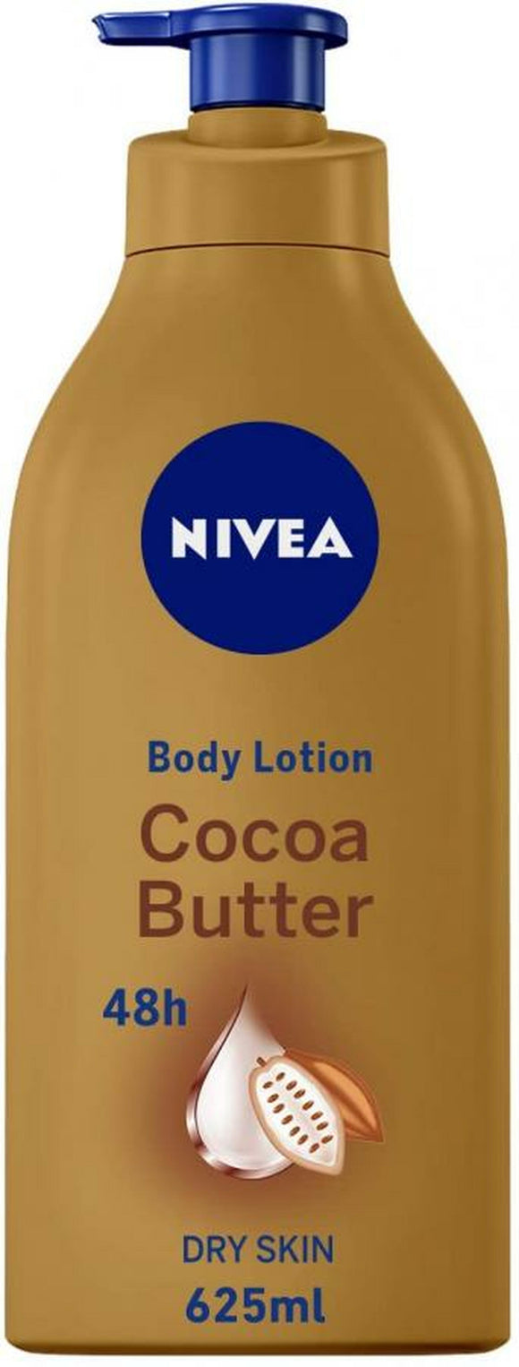 NIVEA BODY LOTION, COCOA BUTTER, DRY SKIN, 625ML