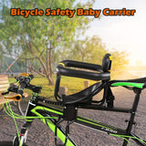 Safety Child Bicycle Seat Bike Front Baby Cycle Seat Kids Saddle with Foot Pedals Support Back Rest for MTB Road Bike