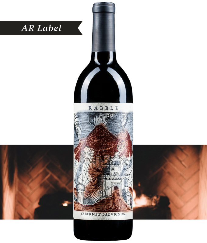 Rabble Paso Robles California Cabernet Sauvignon with Augmented Reality (AR) Labels