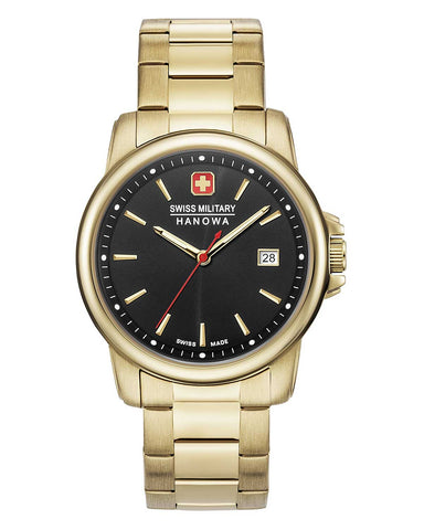 Swiss Military Hanowa 06-5230.7.02.007 Swiss Recruit II Quarz Datum Herren Edelstahl Farbe Gold