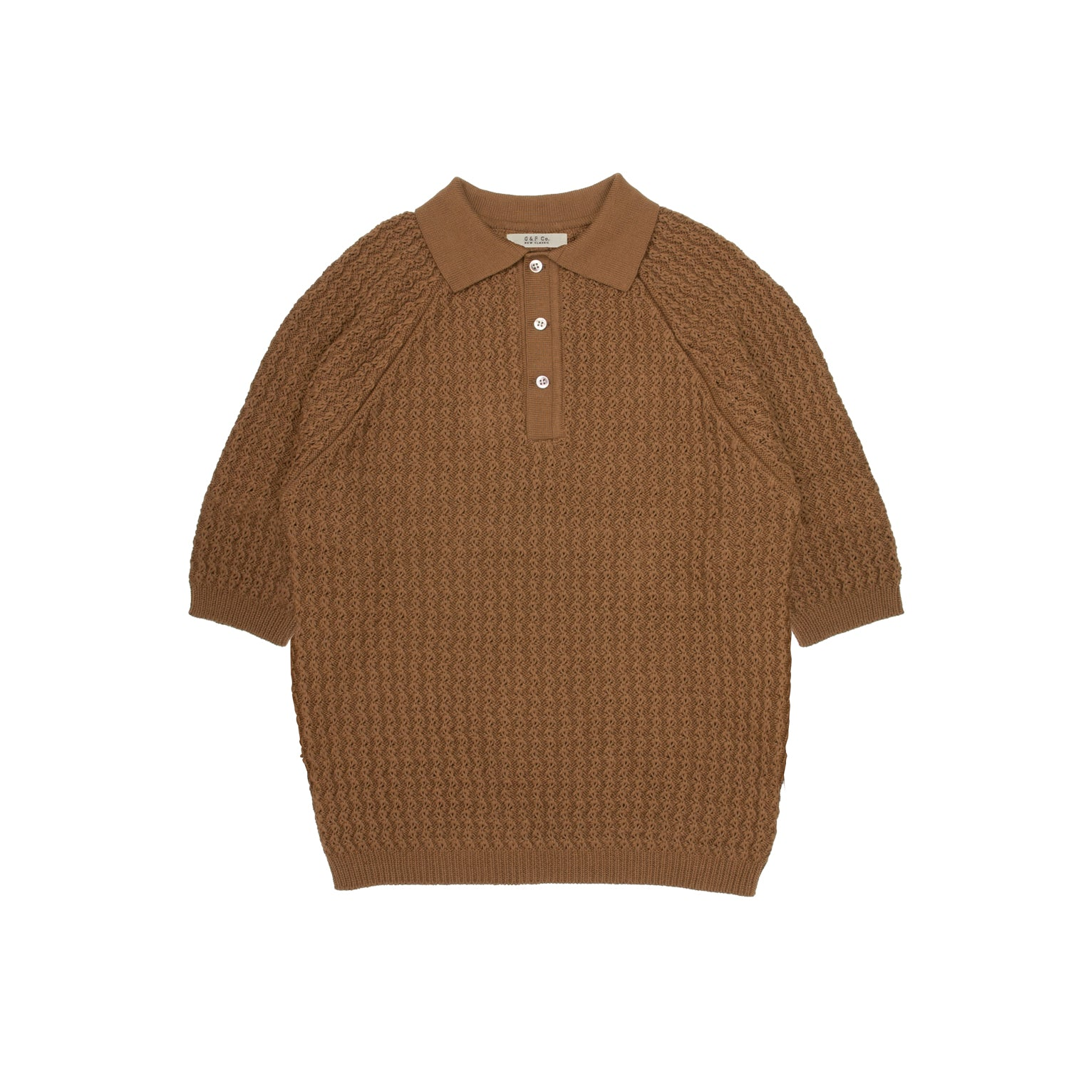 G&F Co.- KNIT POLO SHORT SLEEVE SHIRT_BROWN