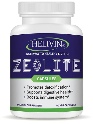 Helivin Zeolite Capsules for Detoxification – No Magnesium Stearate or Other Fillers - Veggie Capsules