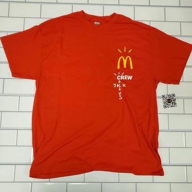 Travis Scott x McDonald's Crew T-Shirt Red XL nuclearfridge
