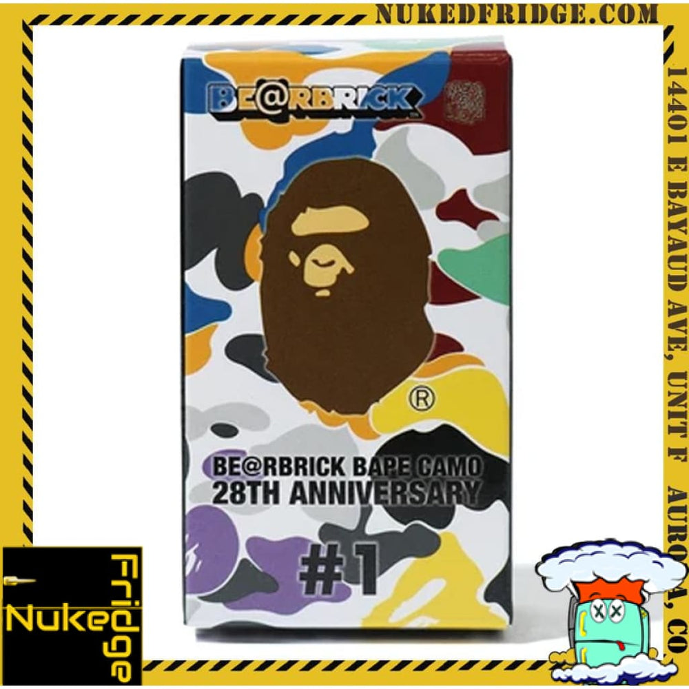 Bape 28th Anniversary Bearbrick New in Box | Mystery Box | 100% nukedFridge Collectibles BAPE Aurora, CO best in the Denver metro!