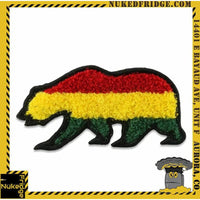 Grassroots Rasta Chenille Removable Bear Patch hvv