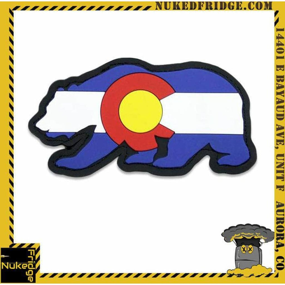 Grassroots Colorado Flag Rubber Removable Bear Patch | New in Bag hvv