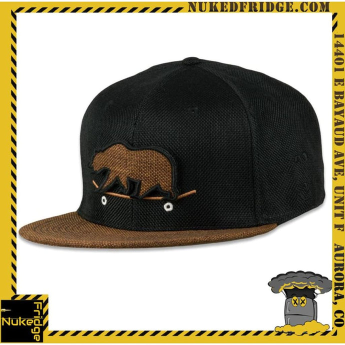 Grassroots Removable Bear Skateboard Fitted Hat hvv
