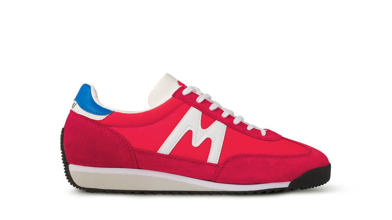 Karhu Mestari Fiery Red Bright White Left View of Shoe