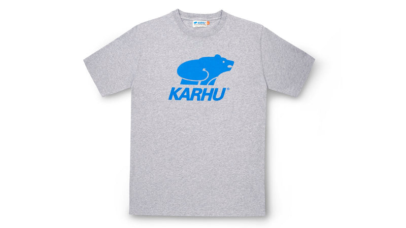 Karhu basic logo tshirt heather grey royal front