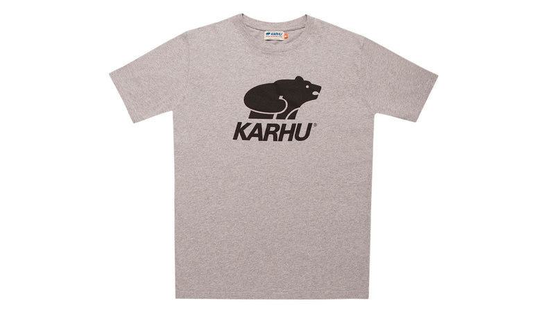 Karhu Basic logo t-shirt hether grey black front