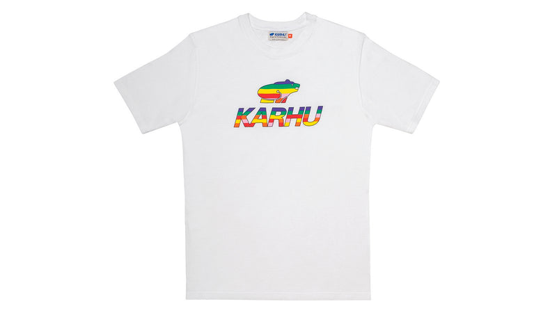 Karhu team college tshirt white multi colour alone