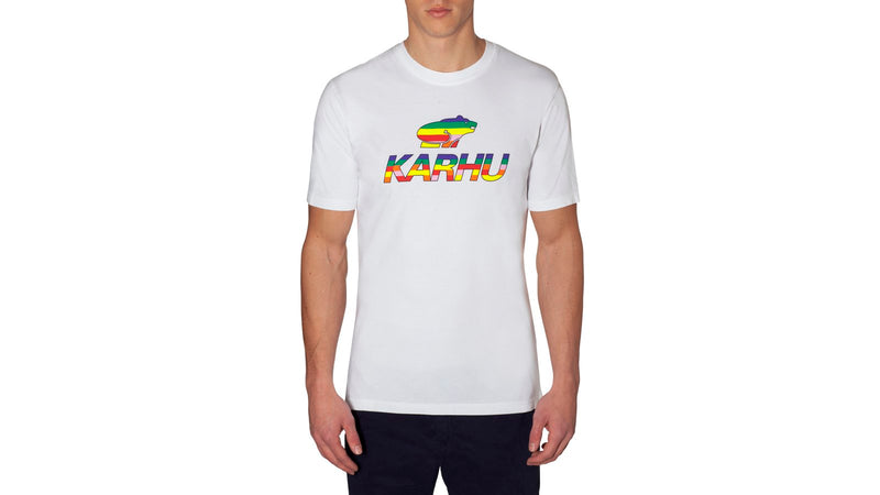 Karhu team college tshirt white multi colour on body