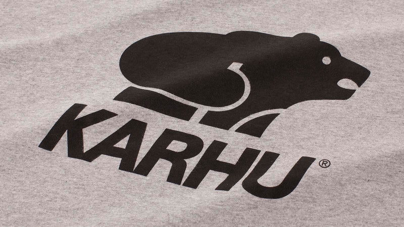 Karhu  Basic Logo Tshirt heather grey black logo