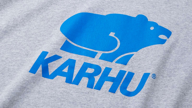 Karhu basic logo tshirt heather grey royal logo