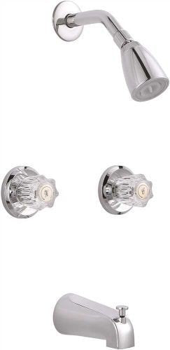 TUB AND SHOWER FAUCET TWO HANDLES - 076335237633