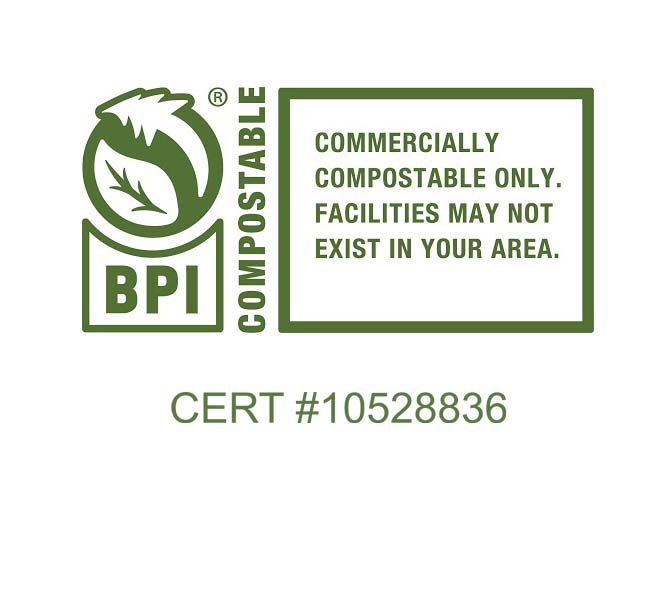 BPI Compostable - American Society for Testing and Materials Standard ASTM D6400 and/or D6868